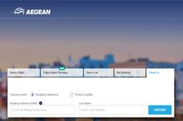 Aegean Airlines Check-In