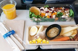 Review of Food and Drinks in Alaska Airlines Main Cabin