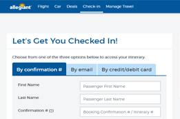 Allegiant Airlines Check-In