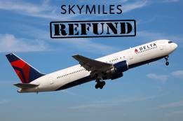 Are Delta Flights Booked with miles Refundable?