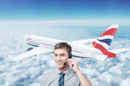 How do I talk with British Airways Live Person?