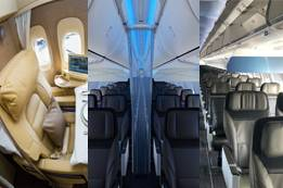How many cabin classes does Alaska Airlines offer?