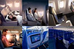 How many cabin classes does Delta Airlines offer?