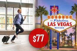 $77, Las Vegas Last Minute Flights,  +1-800-918-3039 