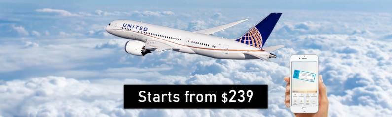 Fares Starts from $239 United Flights to Atlanta